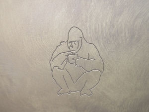 ape using iPad