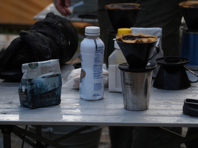 Of the many culinary luxuries that surprised us on the trip, hot coffee was the most frequently enjoyed.