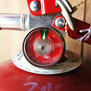 Check your fire extinguisher right now and make sure this little meter looks like this.