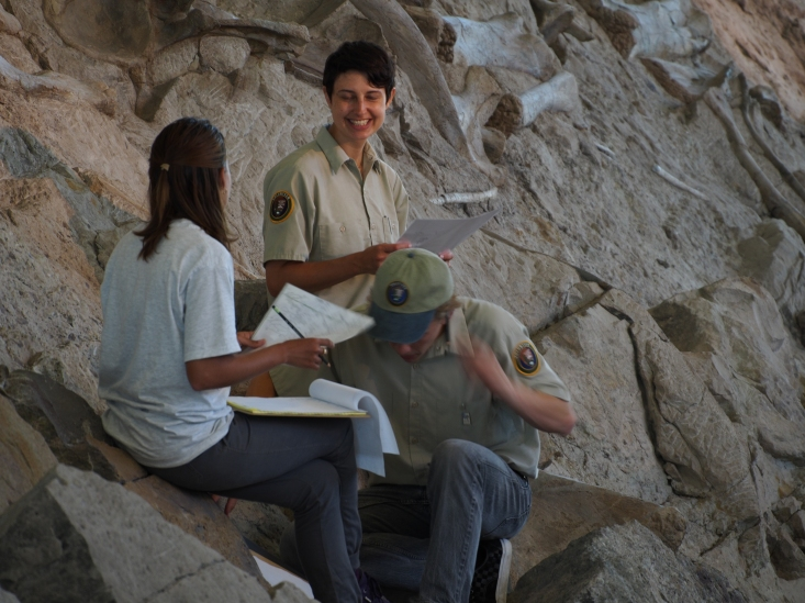 Thea, Marie and Elliott at Carnegie Quarry