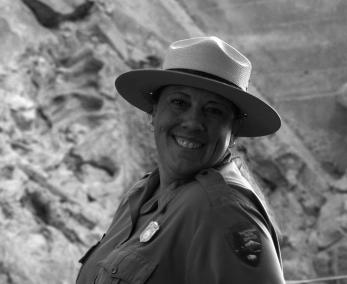 Erin Cahill, an interpreter at Carnegie Quarry